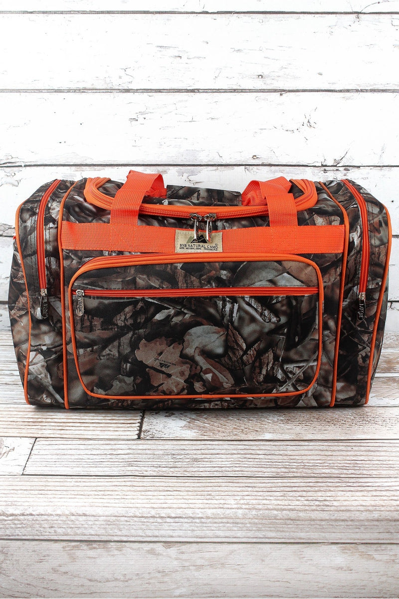 NGIL BNB Natural Camo Duffle with Orange Trim 20""