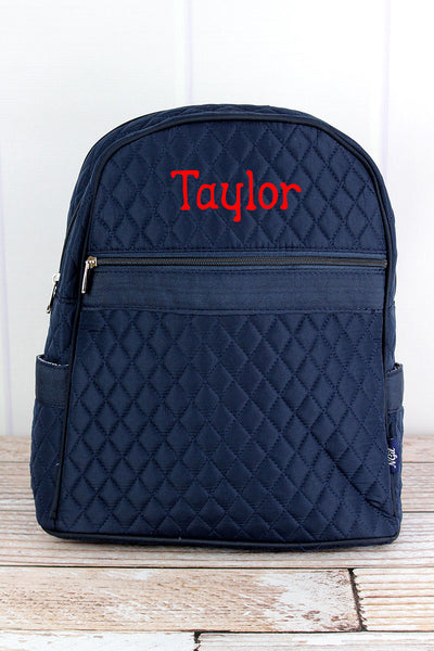 NGIL Navy Quilted Backpack