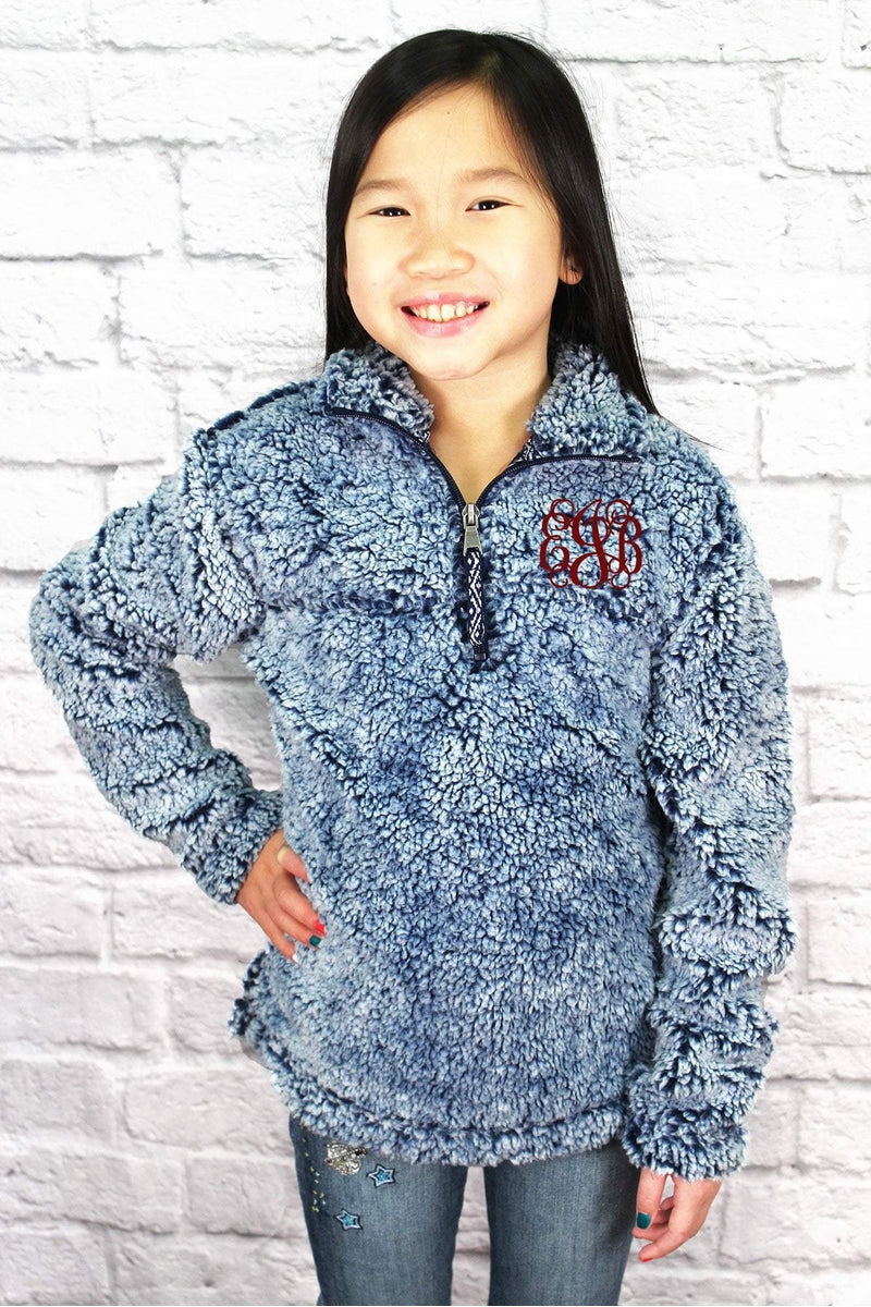 Youth Boxercraft Vintage Navy Sherpa Pullover *Personalize It