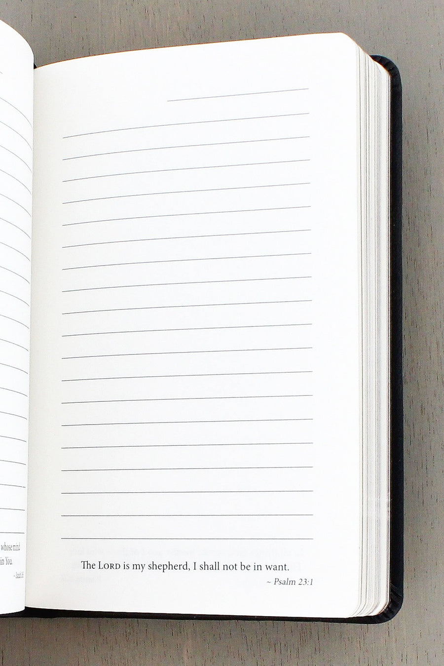 Black 'Blessed' Small LuxLeather Notebook