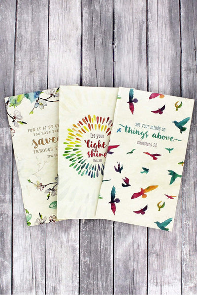 Set of 3 Inspirational Watercolor Notebooks #NBS015