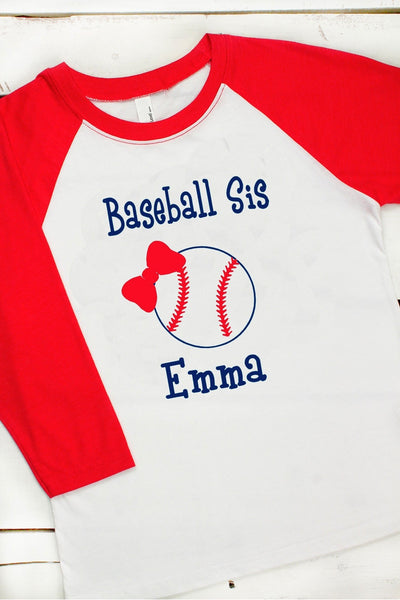 Baseball/Softball Sis Youth 3/4 Sleeve Raglan #NL3352 *Personalize Your Name and Colors (Wholesale Pricing N/A) (PLEASE ALLOW 3-5 BUSINESS DAYS. EXPEDITED SHIPPING N/A) - Wholesale Accessory Market