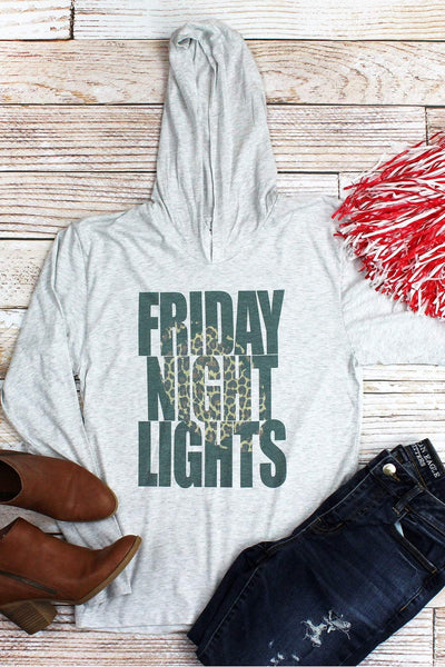 Leopard Friday Night Lights Tri-Blend Unisex Long Sleeve Hoody