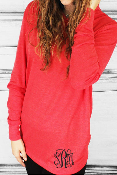 Tri-Blend Unisex Long Sleeve Hoody, Vintage Red *Personalize It!