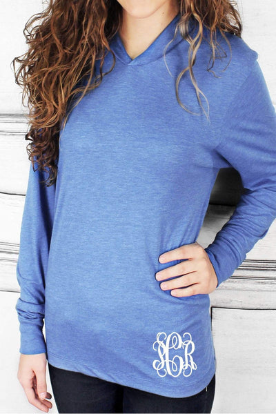 Tri-Blend Unisex Long Sleeve Hoody, Vintage Royal *Personalize It!
