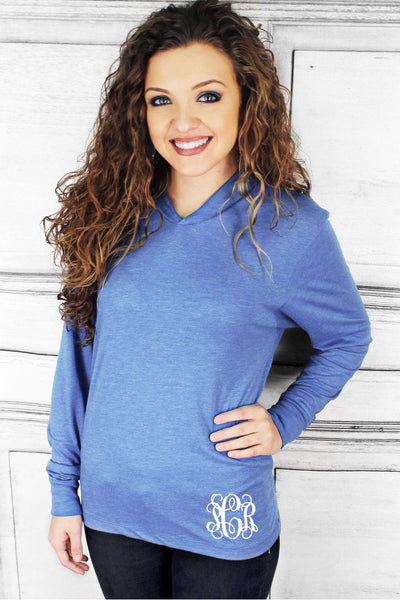 Tri-Blend Unisex Long Sleeve Hoody, Vintage Royal #NL6021 *Personalize It!