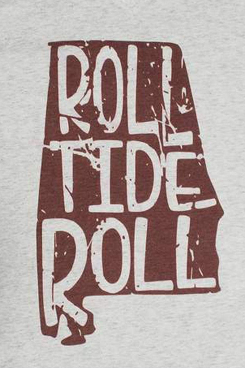 Alabama Football Pride Tri-Blend V Neck Tee