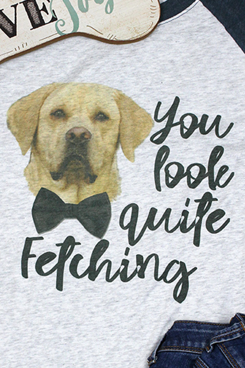 Lab Quite Fetching Tri-Blend Unisex 3/4 Raglan