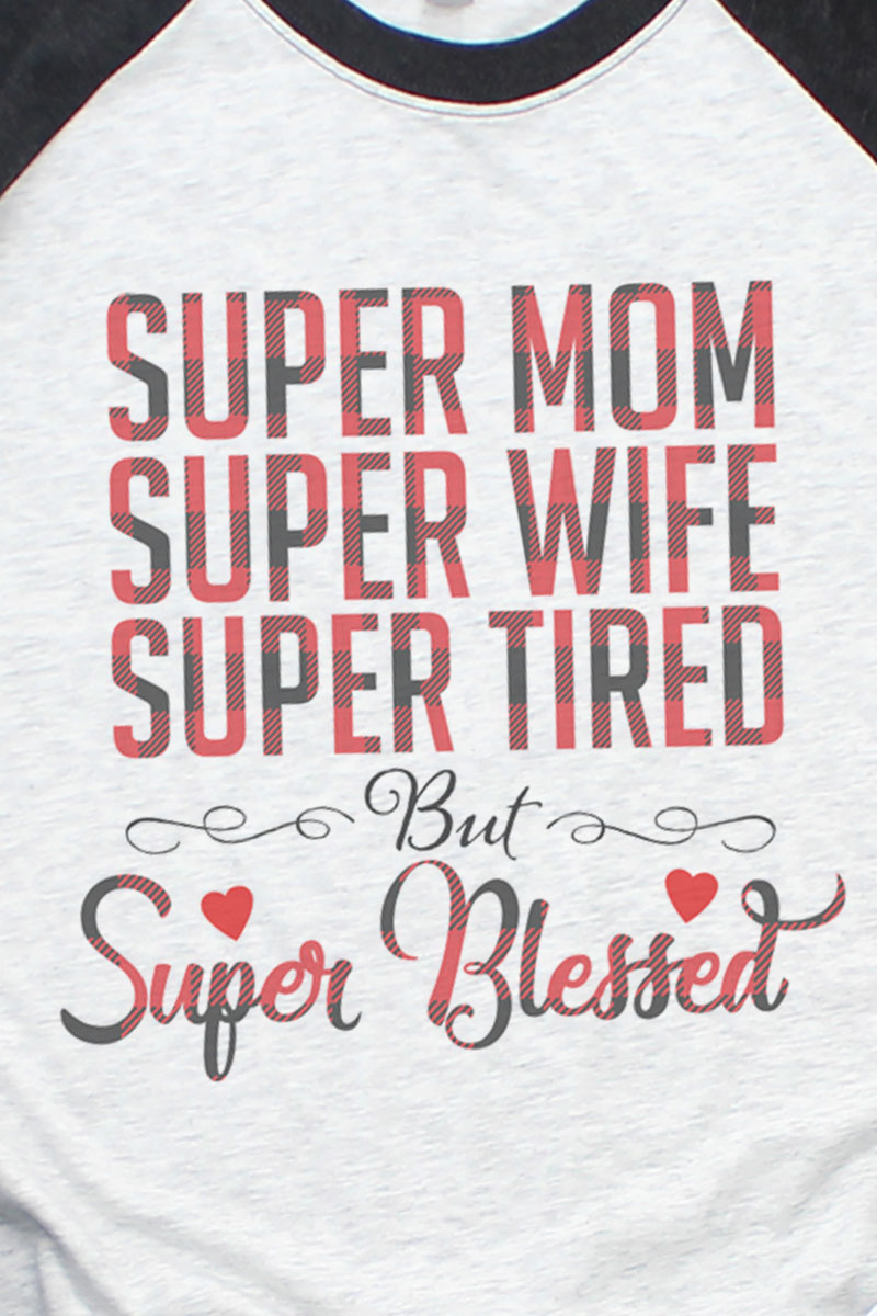 Super Blessed Tri-Blend Unisex 3/4 Raglan