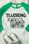 Teaching Is My Jam Tri-Blend Unisex 3/4 Raglan