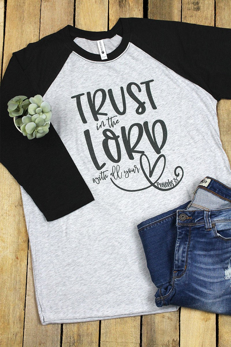 Trust In The Lord Tri-Blend Unisex 3/4 Raglan