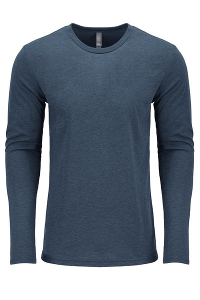 Next Level Tri-Blend Long-Sleeve Men's Cut Crew Tee #NL6071 *Personalize It! (PLEASE ALLOW 3-5 BUSINESS DAYS. EXPEDITED SHIPPING N/A) - Wholesale Accessory Market