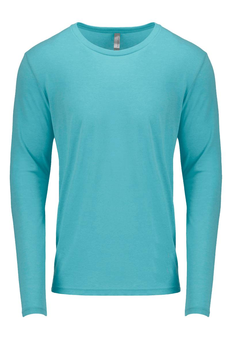 e71abb31 Next Level Tri-Blend Long-Sleeve Men's Cut Crew Tee #NL6071 *Personalize