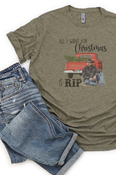 All I Want For Christmas Is Rip Poly/Cotton Tee