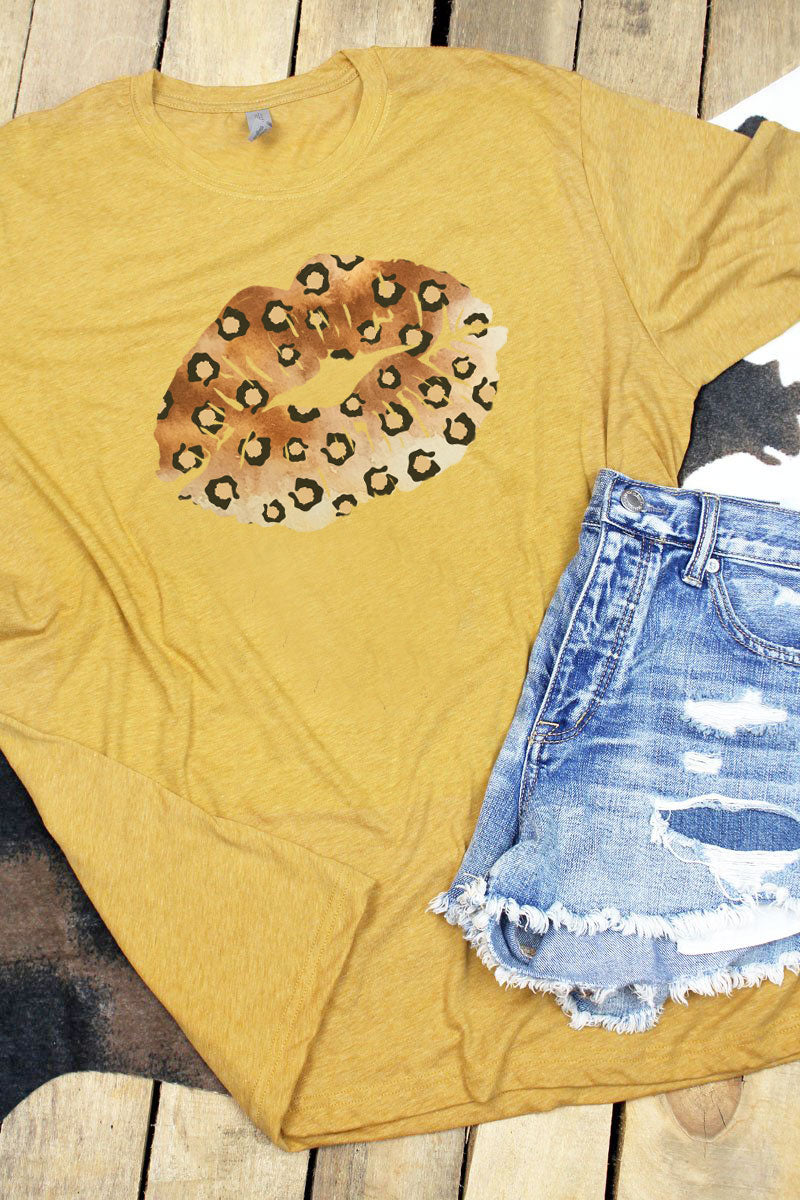 Cheetah Lips Poly/Cotton Tee