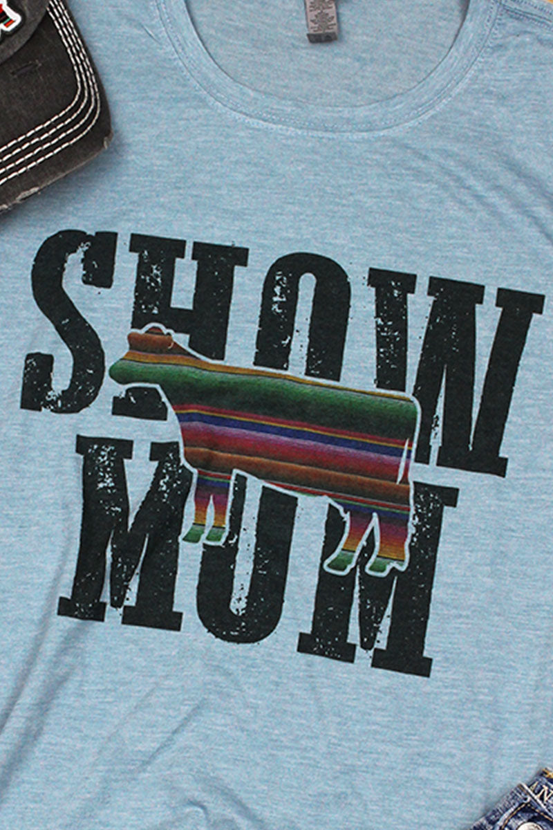 Cow Show Mom Poly/Cotton Tee