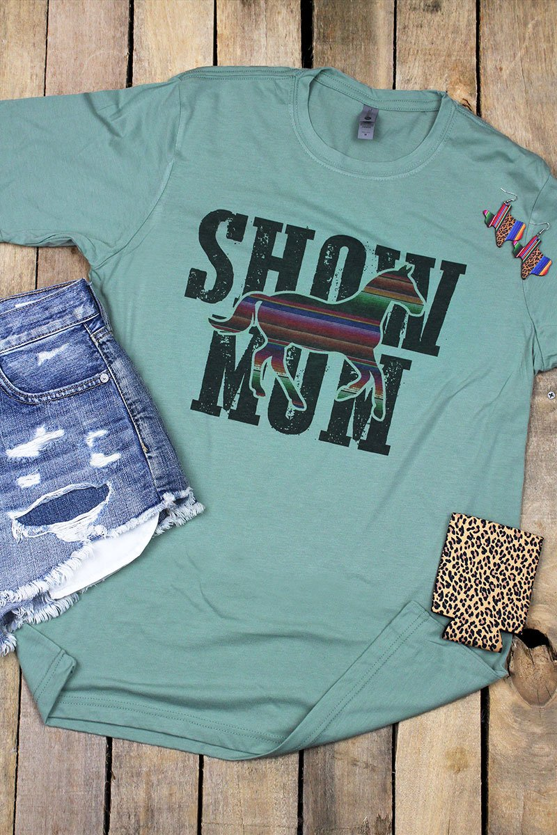 Horse Show Mom Poly/Cotton Tee
