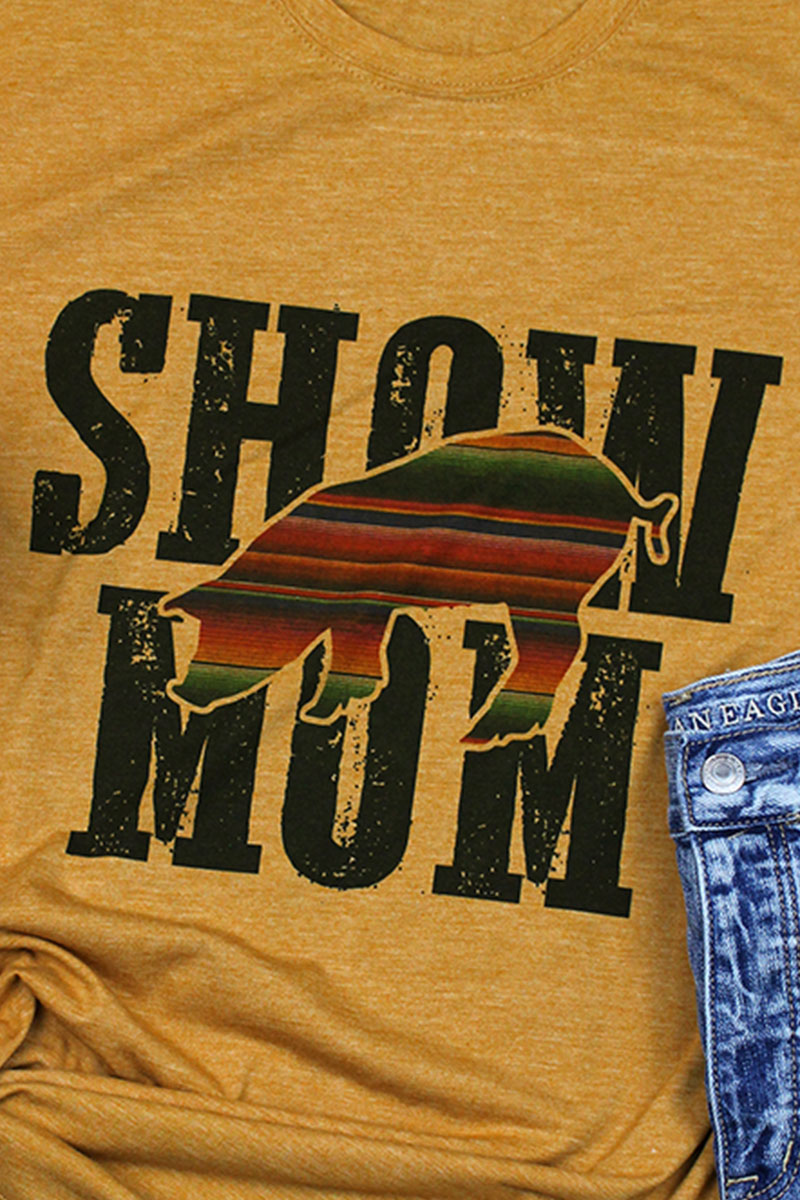 Pig Show Mom Poly/Cotton Tee