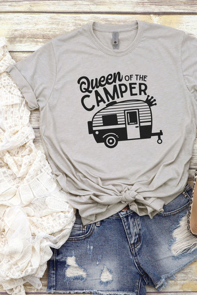 Queen Of The Camper Poly/Cotton Tee