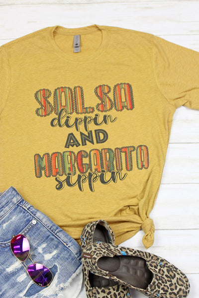 Salsa & Margaritas Poly/Cotton Tee