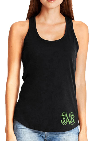 Next Level Womens Gathered Racerback Tank, Black #NL6338 *Personalize It! (PLEASE ALLOW 3-5 BUSINESS DAYS. EXPEDITED SHIPPING N/A)