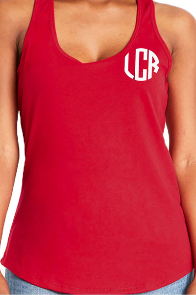 Next Level Womens Gathered Racerback Tank, Red *Personalize It!