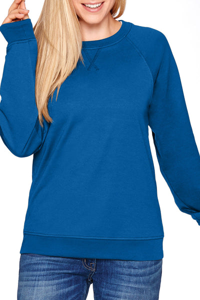 Large Monogram Unisex French Terry Raglan Crew *Personalize It (Wholesale Pricing N/A)