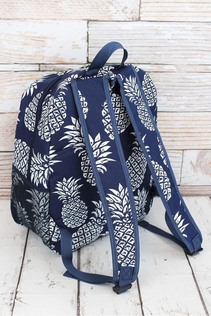 Pineapple Paradise Navy Large Backpack