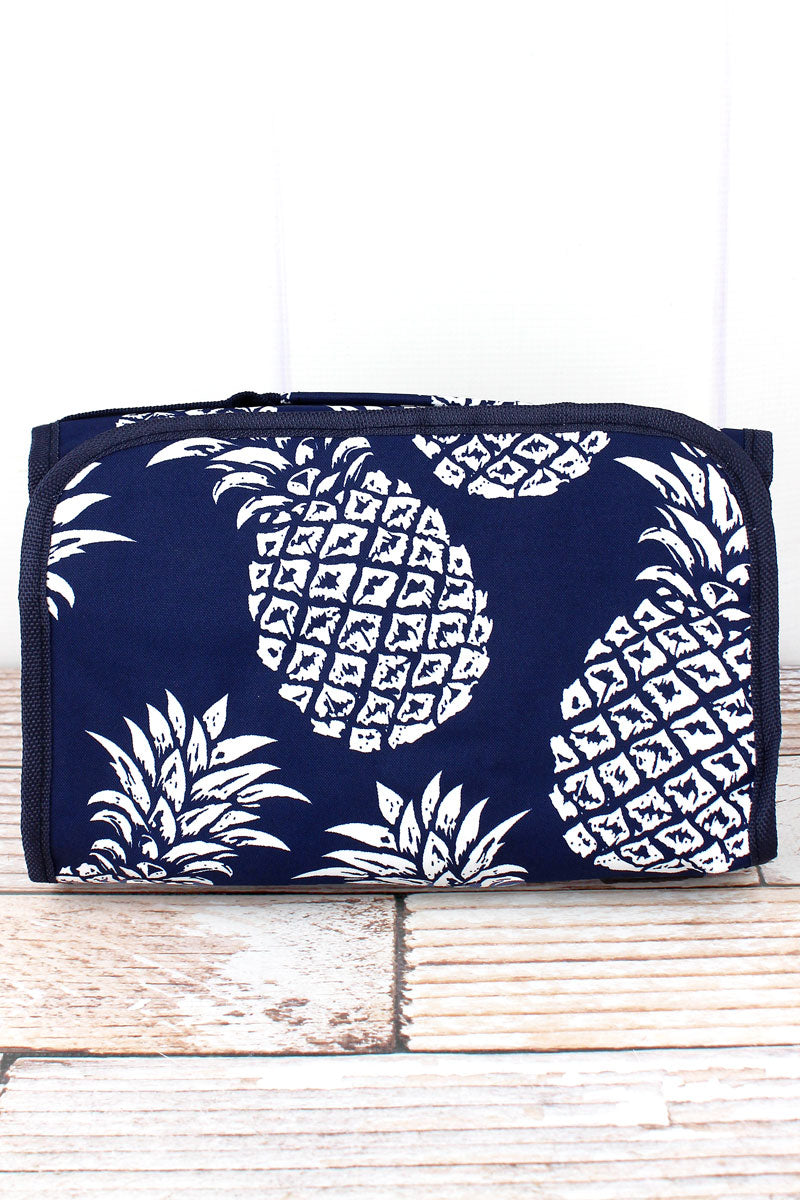 SALE! NGIL Pineapple Paradise Navy Roll Up Cosmetic Bag