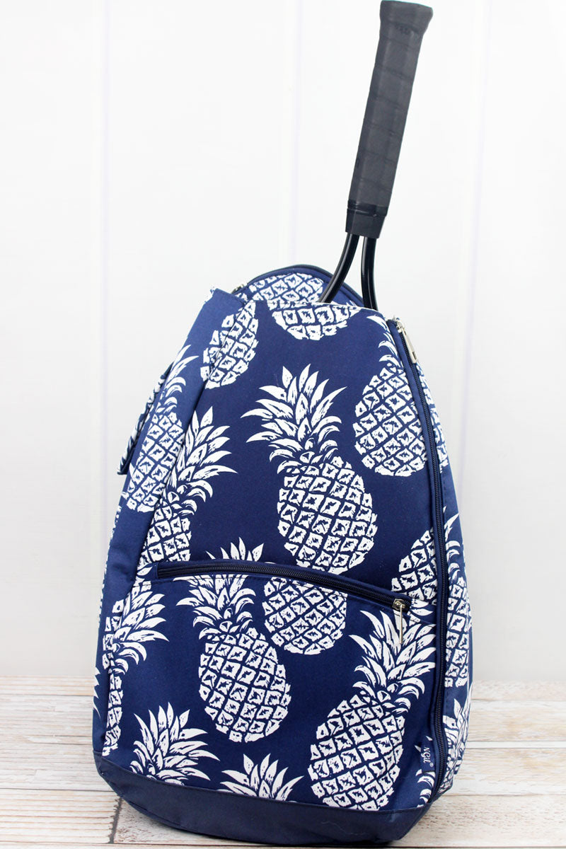 SALE! NGIL Pineapple Paradise Navy Tennis Backpack