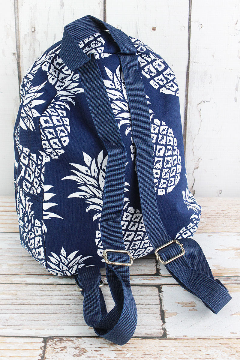 NGIL Pineapple Paradise Navy Small Backpack