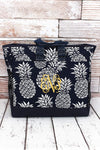 NGIL Pineapple Paradise Navy Everyday Organizer Tote