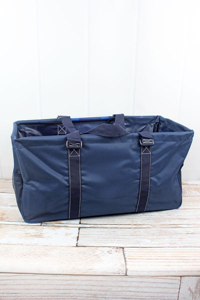 NGIL Scrub Life Navy Collapsible Haul-It-All Basket with Mesh Pockets