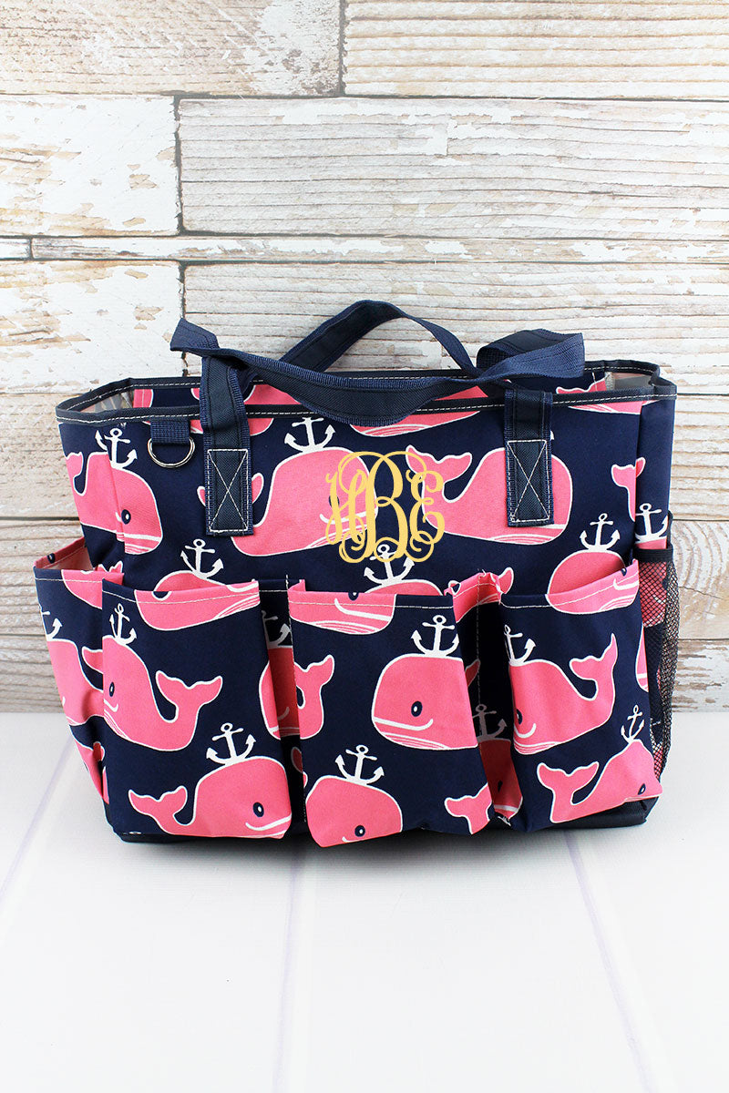 NGIL Whale Hello There Large Organizer Tote