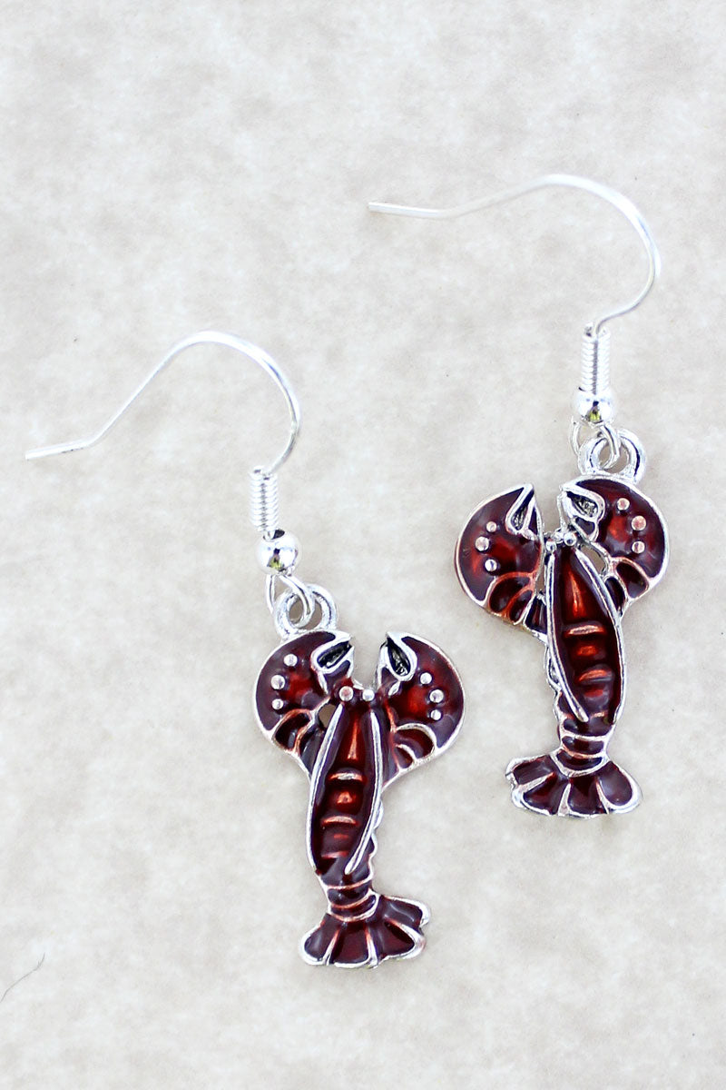 Red Lobster Earrings