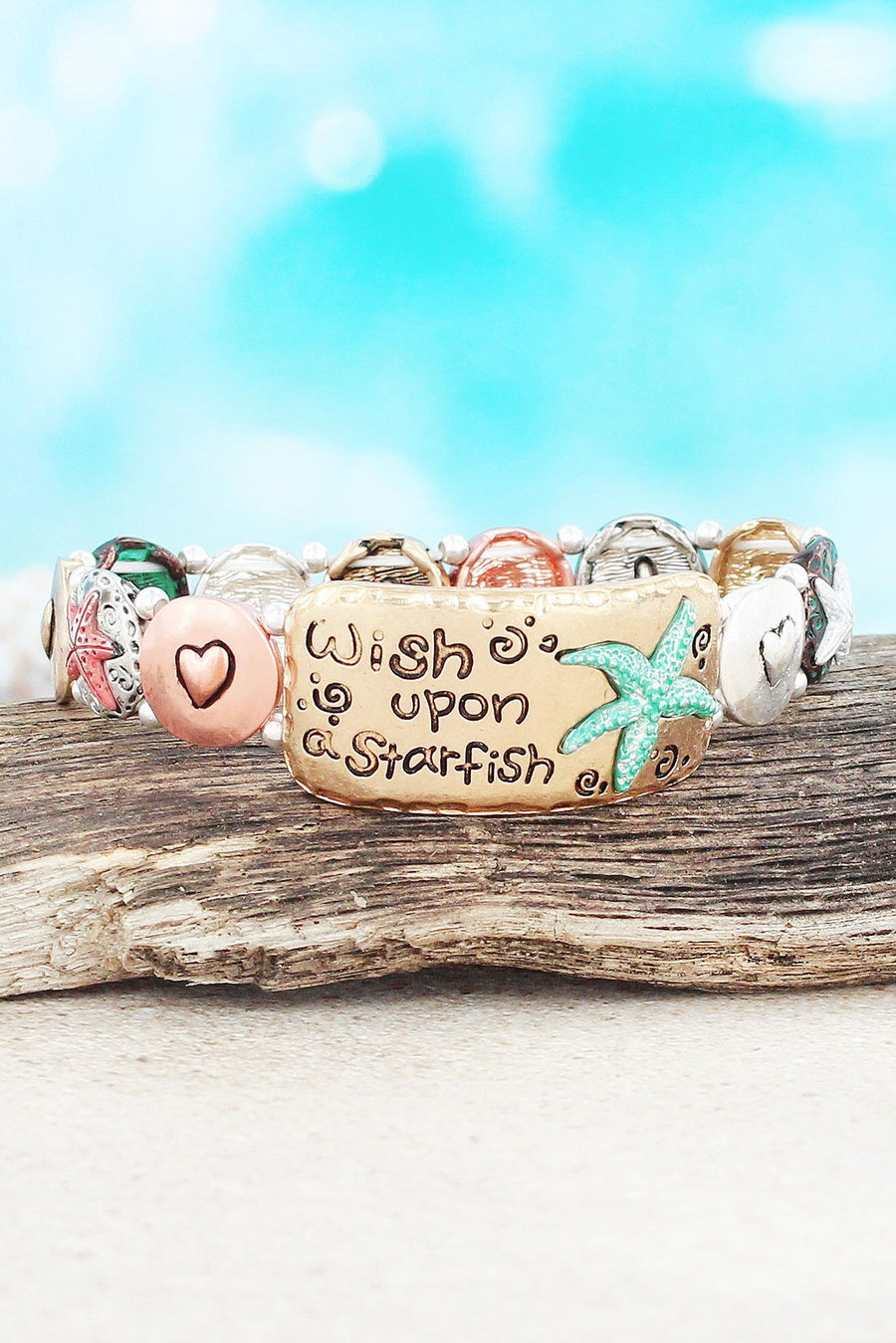 Multi-Tone 'Wish Upon a Starfish' Stretch Bracelet