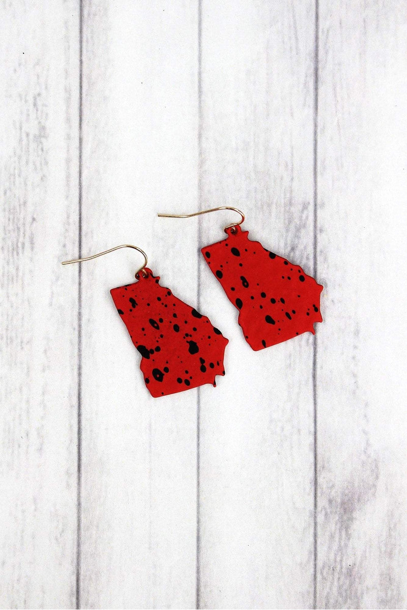 Red and Black Splatter Georgia Earrings