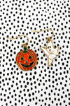 Ghost and Jack-O'-Lantern Mismatched Halloween Earrings