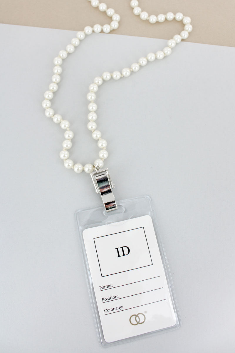 Pearl Lanyard with ID Holder