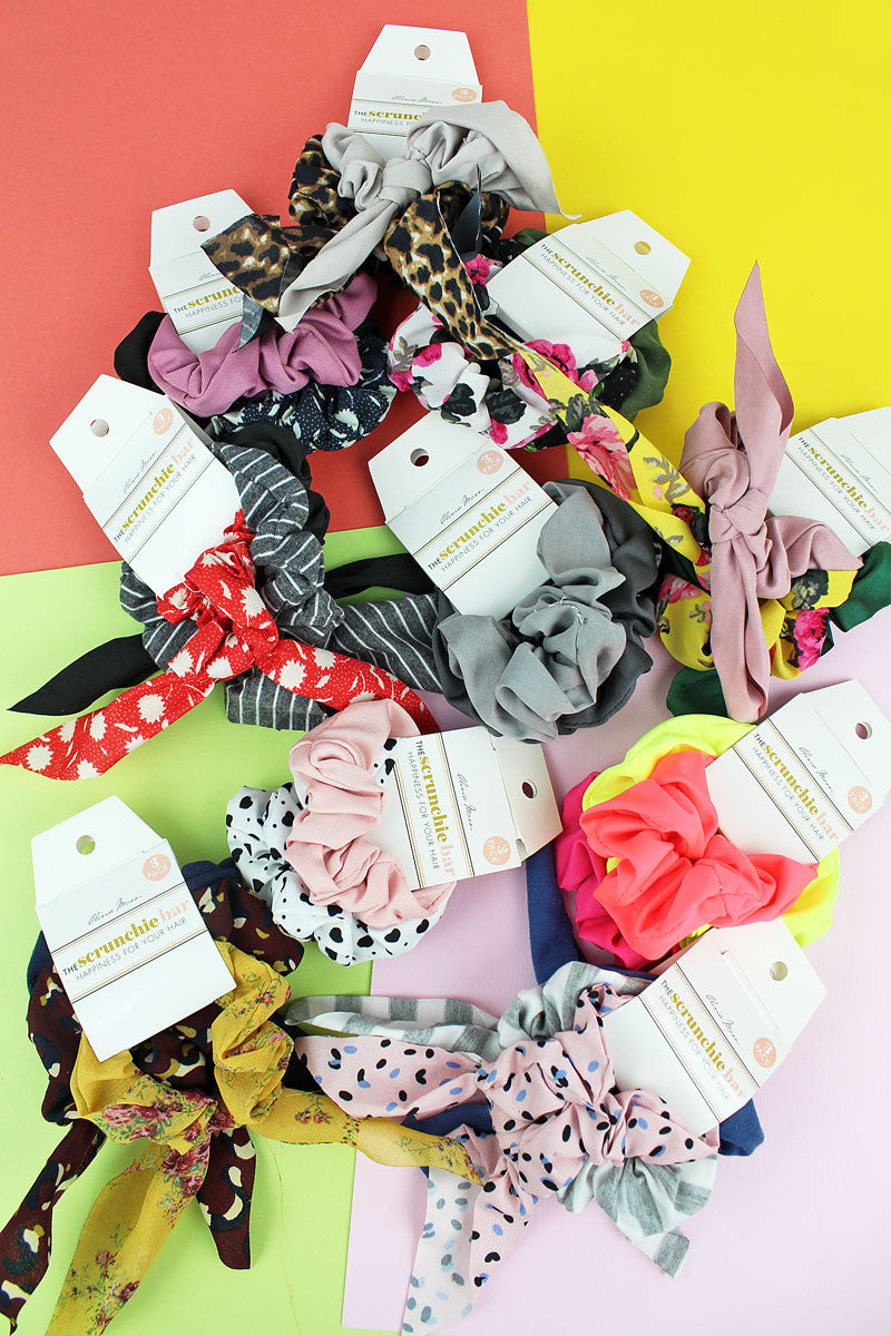 One 3 Piece Set of Fashion Print Scrunchies - SHIPS ASSORTED