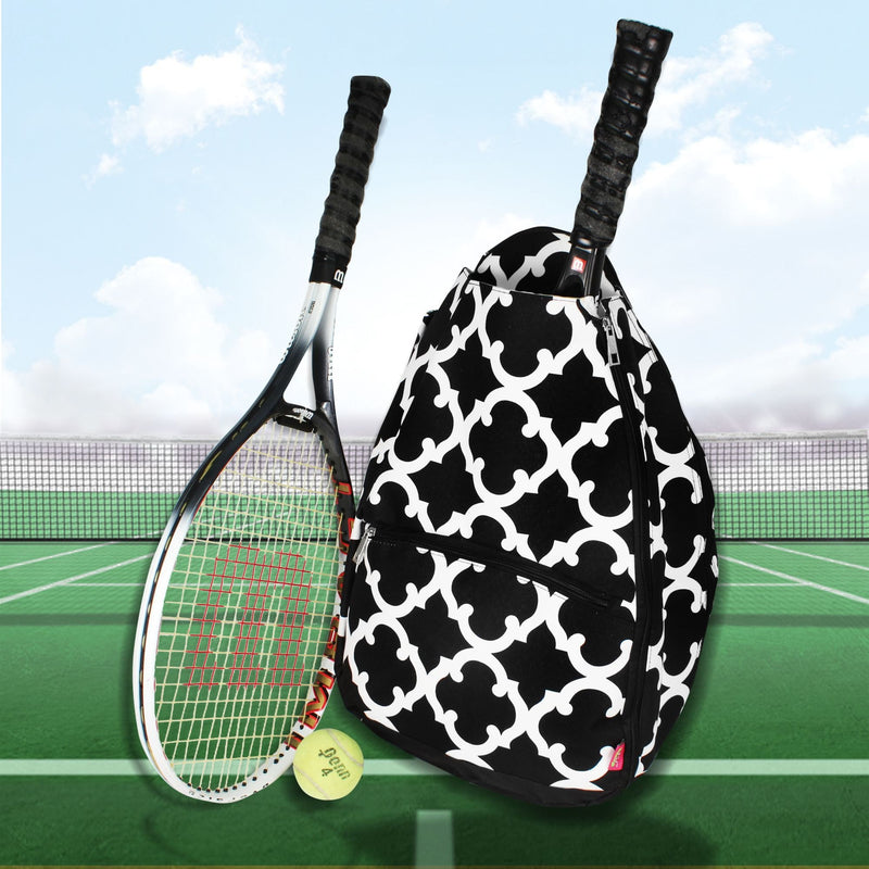 SALE! NGIL Black Moroccan Geometric Tennis Backpack