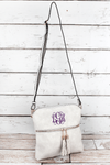 NGIL Cloud Faux Leather Tassel Crossbody Bag