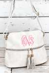 NGIL Cloud Faux Leather Crossbody Tassel Tote