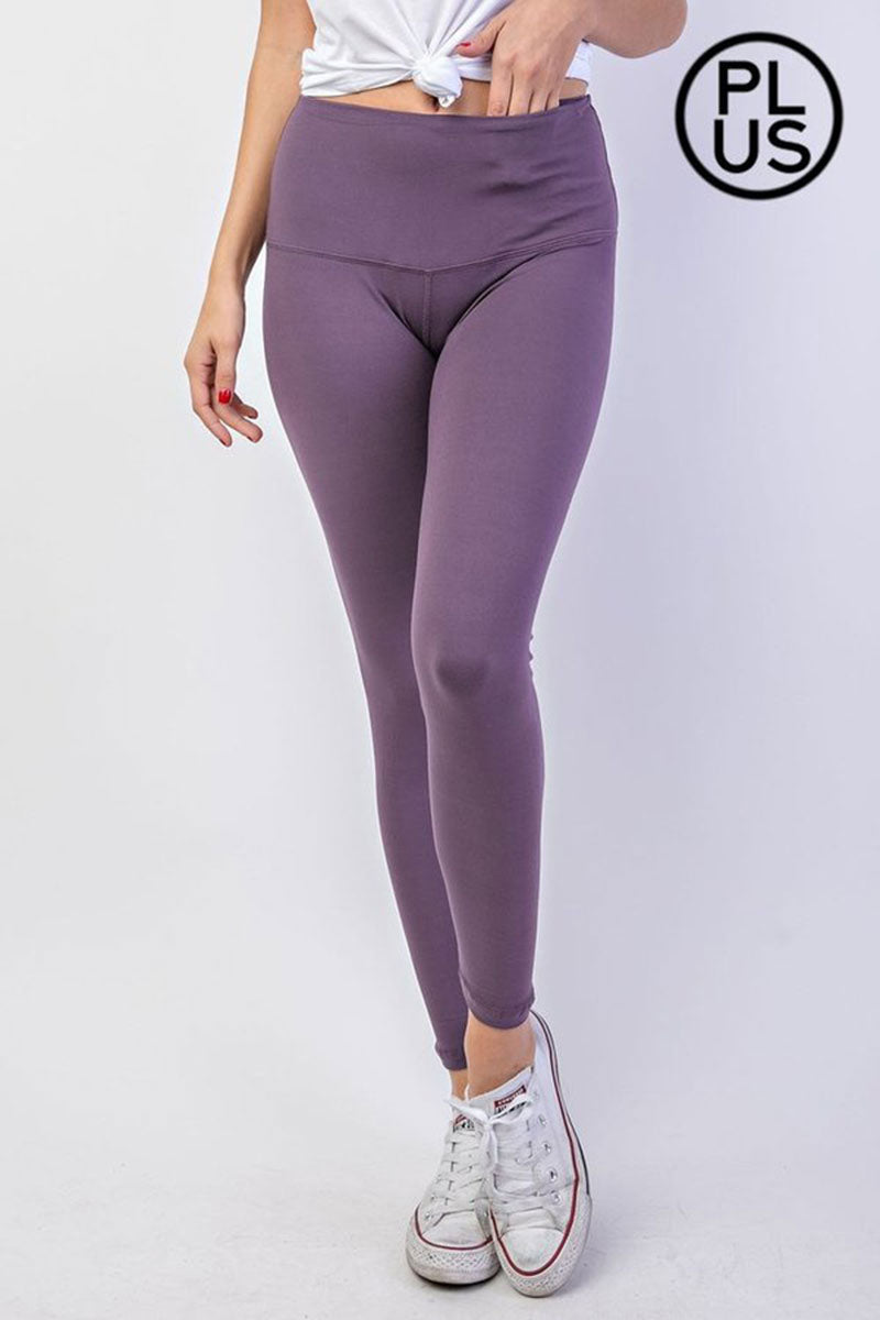 Plus Size Vintage Violet Butter Leggings