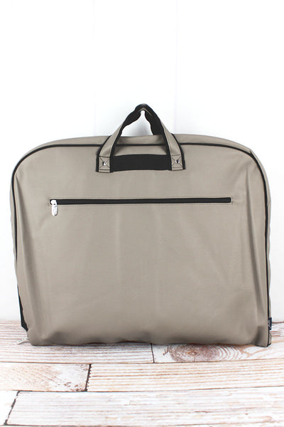 NGIL Taupe Gray Faux Leather Garment Bag