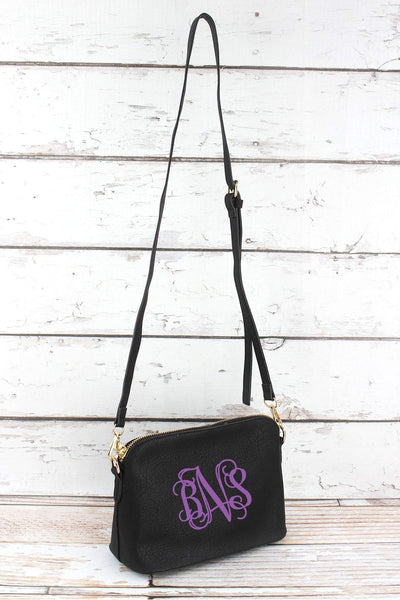 NGIL Black Faux Leather Convertible Crossbody Bag