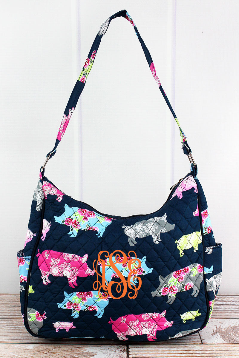 NGIL Posh Pigs Quilted Shoulder Bag