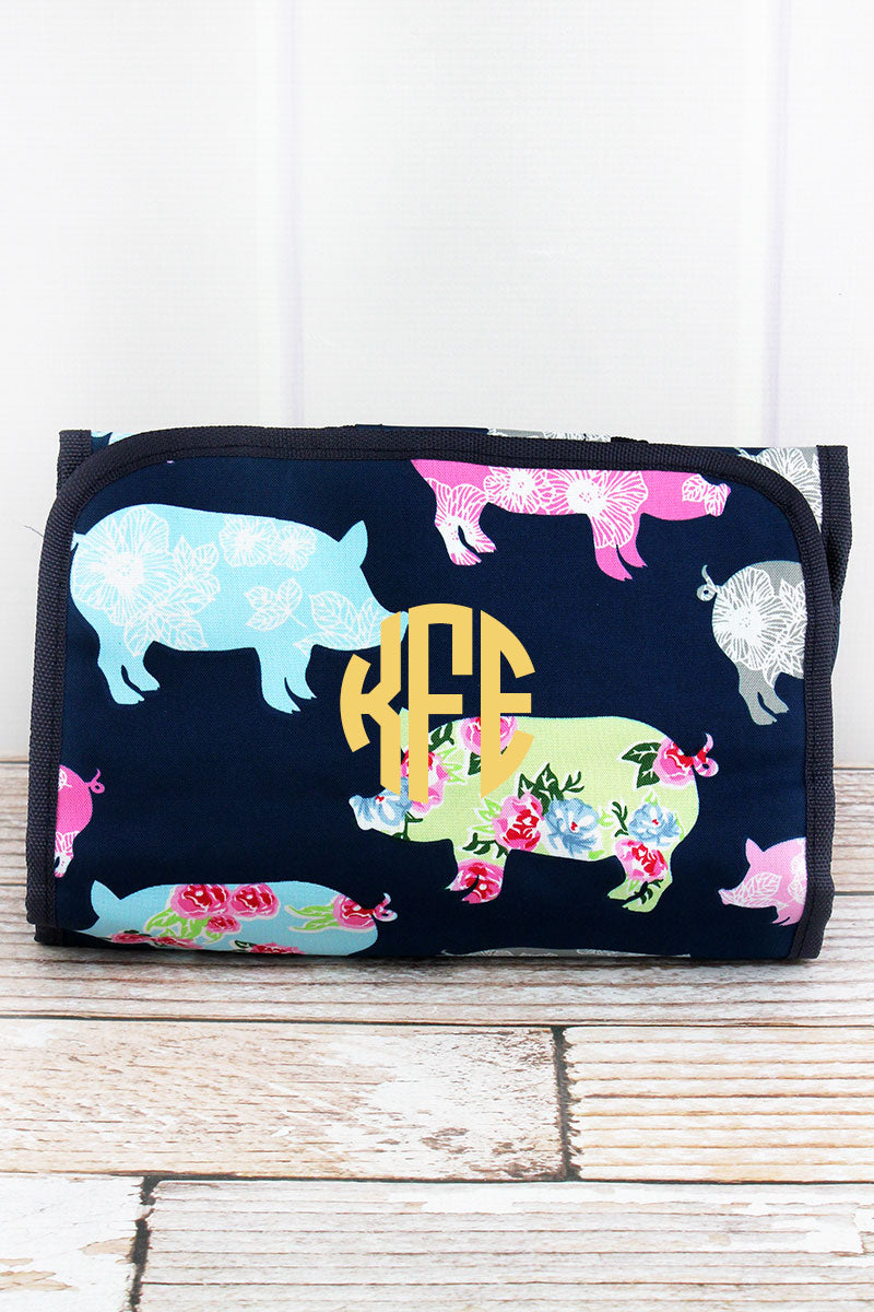 NGIL Posh Pigs Roll Up Cosmetic Bag