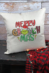 Merry Grinchmas Decorative Pillow Cover