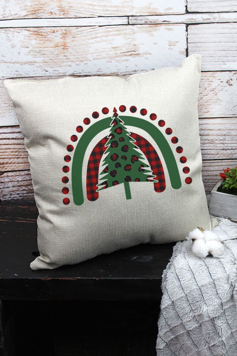 Christmas Rainbow Decorative Pillow Cover
